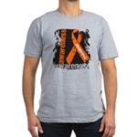Grunge Leukemia Men's Fitted T-Shirt (dark)
