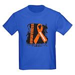 Grunge Leukemia Kids Dark T-Shirt