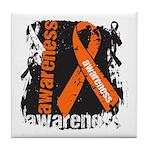 Grunge Leukemia Tile Coaster