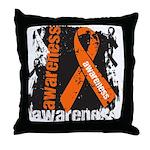 Grunge Leukemia Throw Pillow