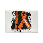 Grunge Leukemia Rectangle Magnet (100 pack)