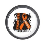 Grunge Leukemia Wall Clock
