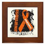 Grunge Leukemia Framed Tile