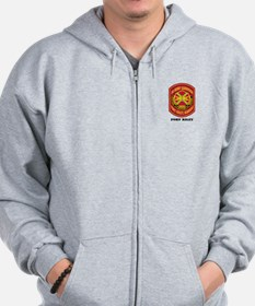 Fort Riley with Text Zip Hoodie