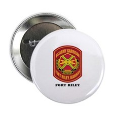 "Fort Riley with Text 2.25"" Button"