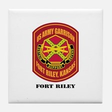 Fort Riley with Text Tile Coaster