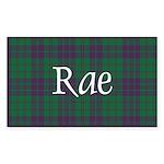 Tartan - Rae Sticker (Rectangle 10 pk)