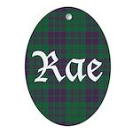 Tartan - Rae Ornament (Oval)