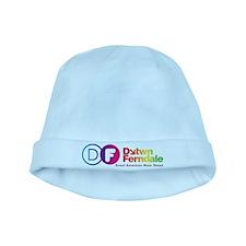 Downtown Ferndale Rainbow Logo baby hat