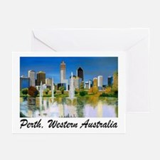 Perth Skyline Painting Greeting Cards (Pack of 6)