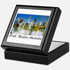 Perth Skyline Painting Keepsake Box