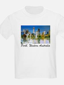 Perth Skyline Painting Kids T-Shirt
