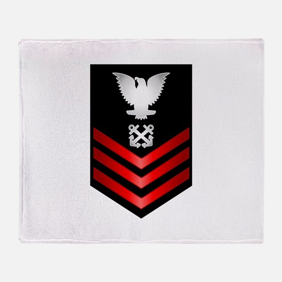 Navy Boatswain's Mate First Class Throw Blanket