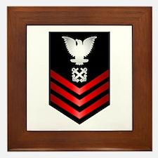 Navy Boatswain's Mate First Class Framed Tile