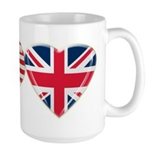 USA and UK Heart Flag Mug