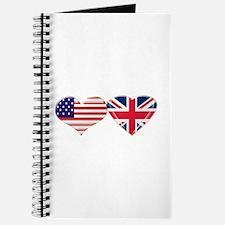 USA and UK Heart Flag Journal