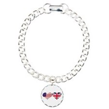 USA and UK Heart Flag Bracelet