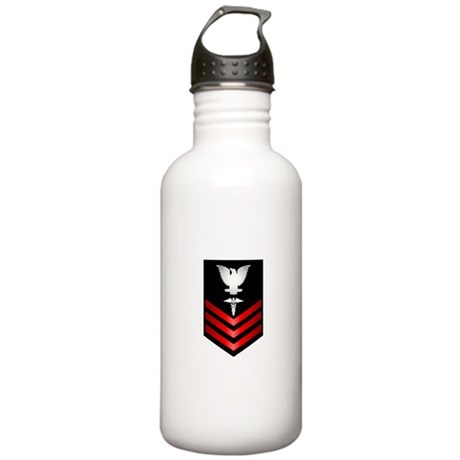 Navy Corpsman First Class Stainless Water Bottle 1