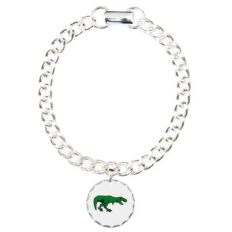 T Rex Charm Bracelet, One Charm
