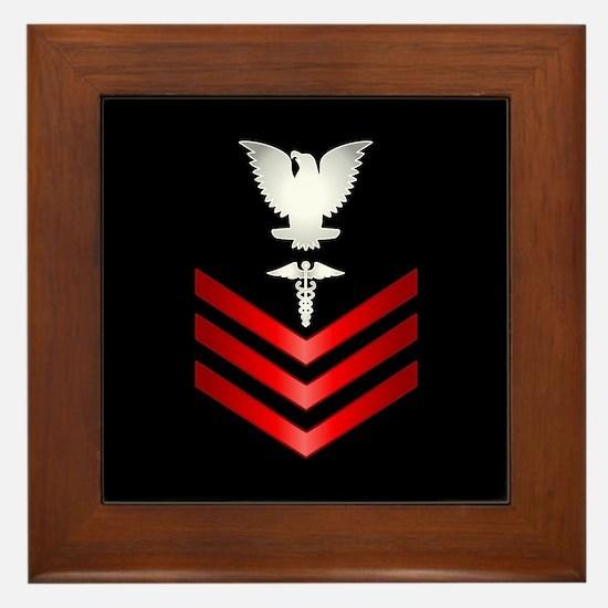 Navy Corpsman First Class Framed Tile