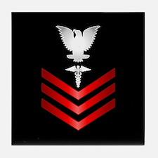 Navy Corpsman First Class Tile Coaster