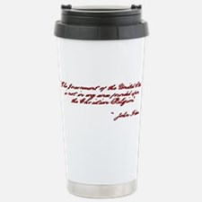 John Adams Quote Stainless Steel Travel Mug