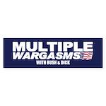 MULTIPLE WARGASMS Bumper Sticker