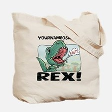 Personalizable T-Rex Tote Bag