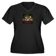 Salem MA Women's Plus Size V-Neck Dark T-Shirt