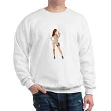 Jezebel - gun pinup girl Sweatshirt