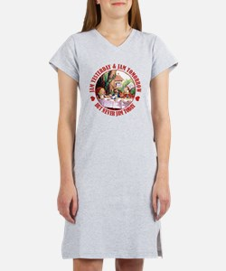 THE MAD HATTER'S RULES Women's Nightshirt