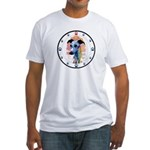 E Whippet N Paws Fitted T-Shirt