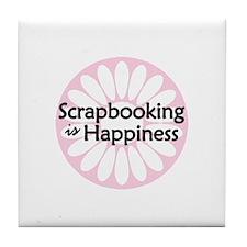 Scrapbooking is Happiness Tile Coaster