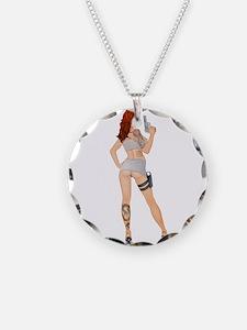 Jezebel - gun pinup girl Necklace