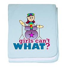 Drummer Girl baby blanket