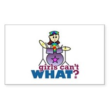 Drummer Girl Decal