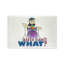 Drummer Girl Rectangle Magnet