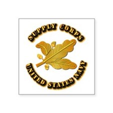 """Navy - Supply Corps Square Sticker 3"""" x 3"""""""