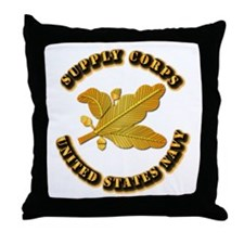 Navy - Supply Corps Throw Pillow
