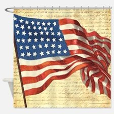 American Flag Consitution Shower Curtain