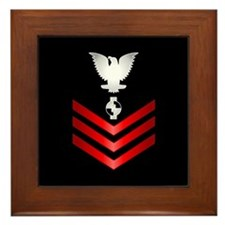 Navy Engineering Aide First Class Framed Tile