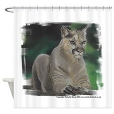 Pastel Painting of a Cougar Shower Curtain