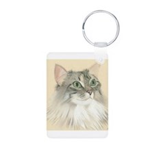 Norwegian Forest Cat Painting Keychains