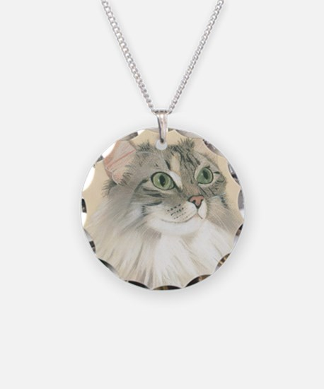 Norwegian Forest Cat Painting Necklace