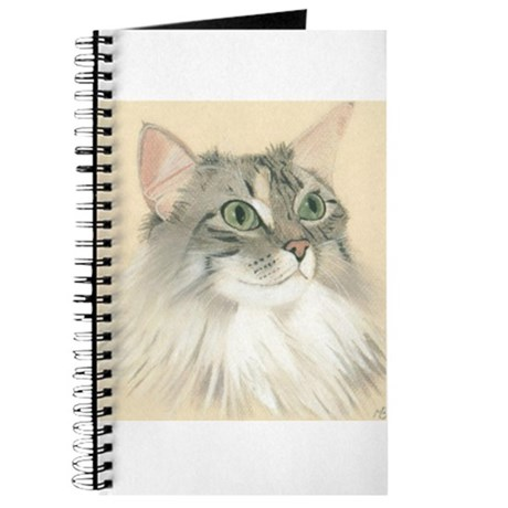 Norwegian Forest Cat Painting Journal