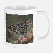 Clouded Leopard Pastel Drawing Mug