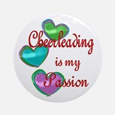 Cheerleading Passion Ornament (Round)