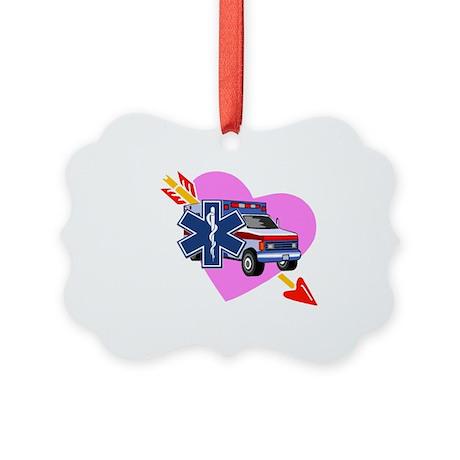 EMS Care Heart Picture Ornament