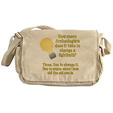 Archeologist lightbulb joke Messenger Bag