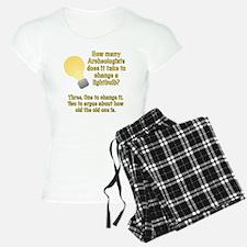 Archeologist lightbulb joke Pajamas